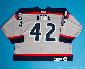 2003-2004 game worn Jeff State Hartford Wolf Pack jersey