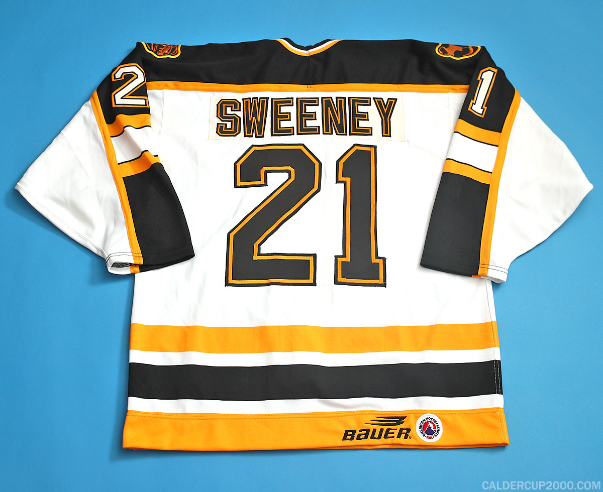 1998-1999 game worn Tim Sweeney Providence Bruins jersey