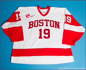 2004-2005 game worn Chris Bourque Boston University jersey