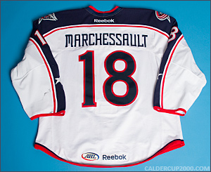 2013-2014 game worn Jonathan Marchessault Springfield Falcons jersey