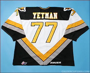 1998-1999 game worn Patrick Yetman Cape Breton Screaming Eagles jersey