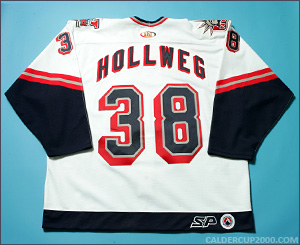 2001-2002 game worn Ryan Hollweg Hartford Wolf Pack jersey