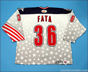 2001-2002 game worn Rico Fata Hartford Wolf Pack jersey