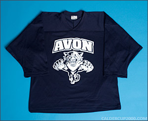 2014-2015 game worn Henrik Rutsch Avon Panthers jersey