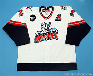 2014-2015 game worn Ryan Potulny Hartford Wolf Pack jersey