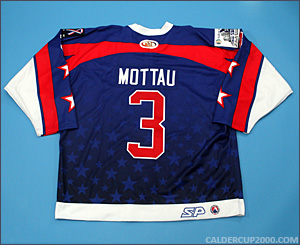 2002 game worn Mike Mottau PlanetUSA AHL All Stars jersey