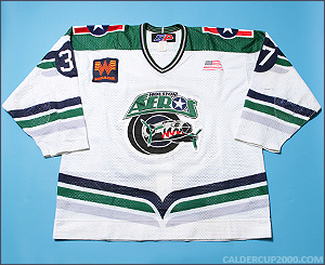 2001-2002 game worn Lawrence Nycholat Houston Aeros jersey