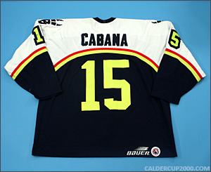 1998-1999 game worn Chad Cabana Beast of New Haven jersey