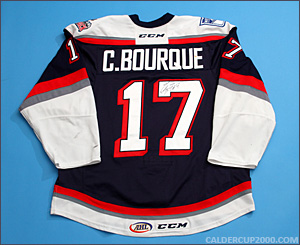 2014-2015 game worn Chris Bourque Hartford Wolf Pack jersey