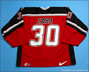 2001-2002 game worn Matt Zaba Vancouver Giants jersey