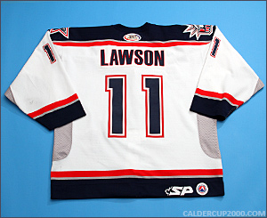 2003-2004 game worn Lucas Lawson Hartford Wolf Pack jersey