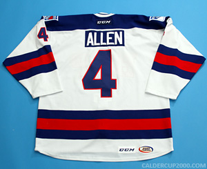 2014-2015 game worn Conor Allen Hartford Wolf Pack jersey