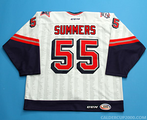 2014-2015 game worn Chris Summers Hartford Wolf Pack jersey
