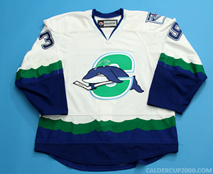 2012-2013 game worn Kelsey Tessier Connecticut Whale jersey