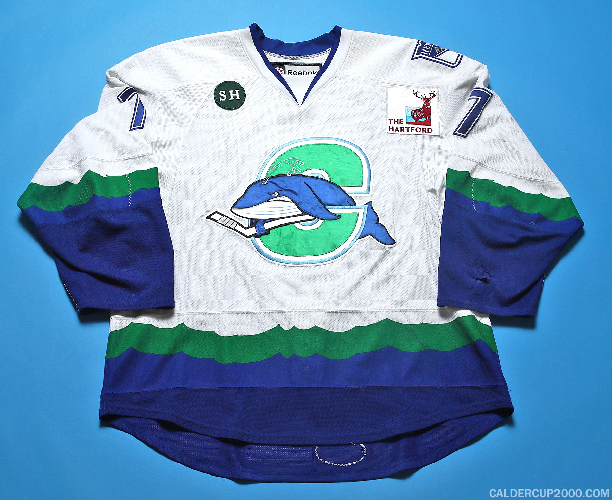 2012-2013 game worn Kyle Jean Connecticut Whale jersey