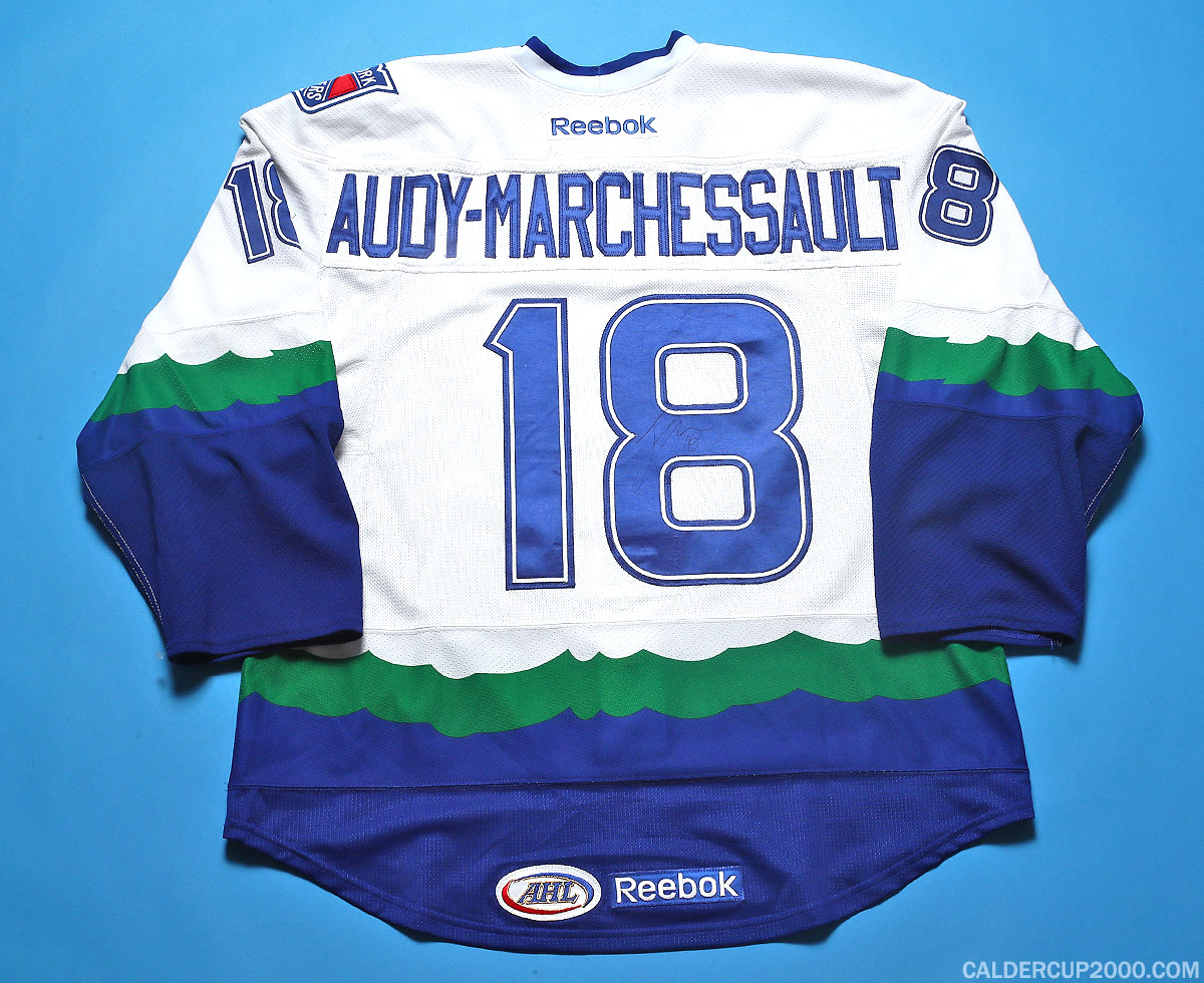 2011-2012 game worn Jonathan Audy-Marchessault Connecticut Whale jersey