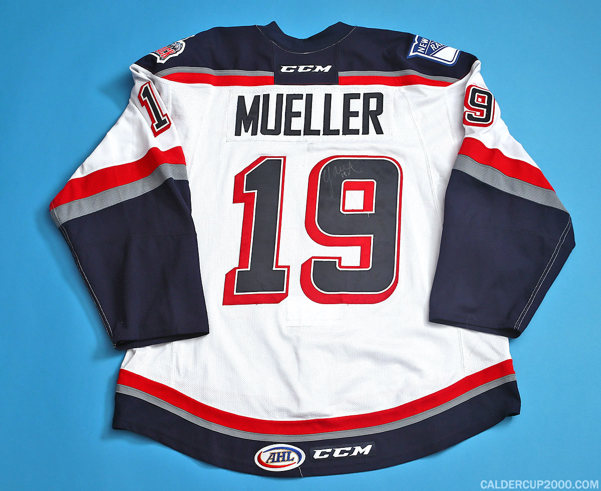 2014-2015 game worn Chris Mueller Hartford Wolf Pack jersey