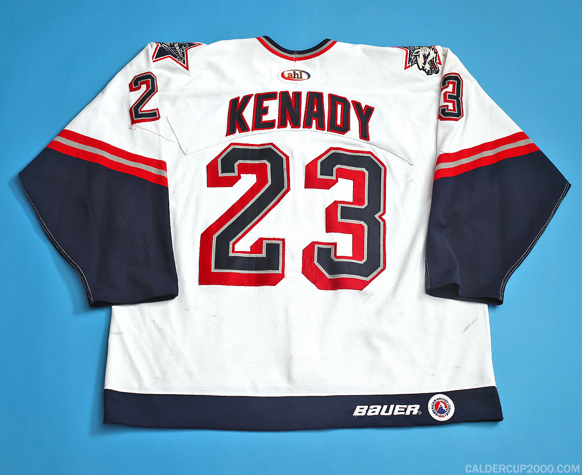 1999-2000 game worn Chris Kenady Hartford Wolf Pack jersey