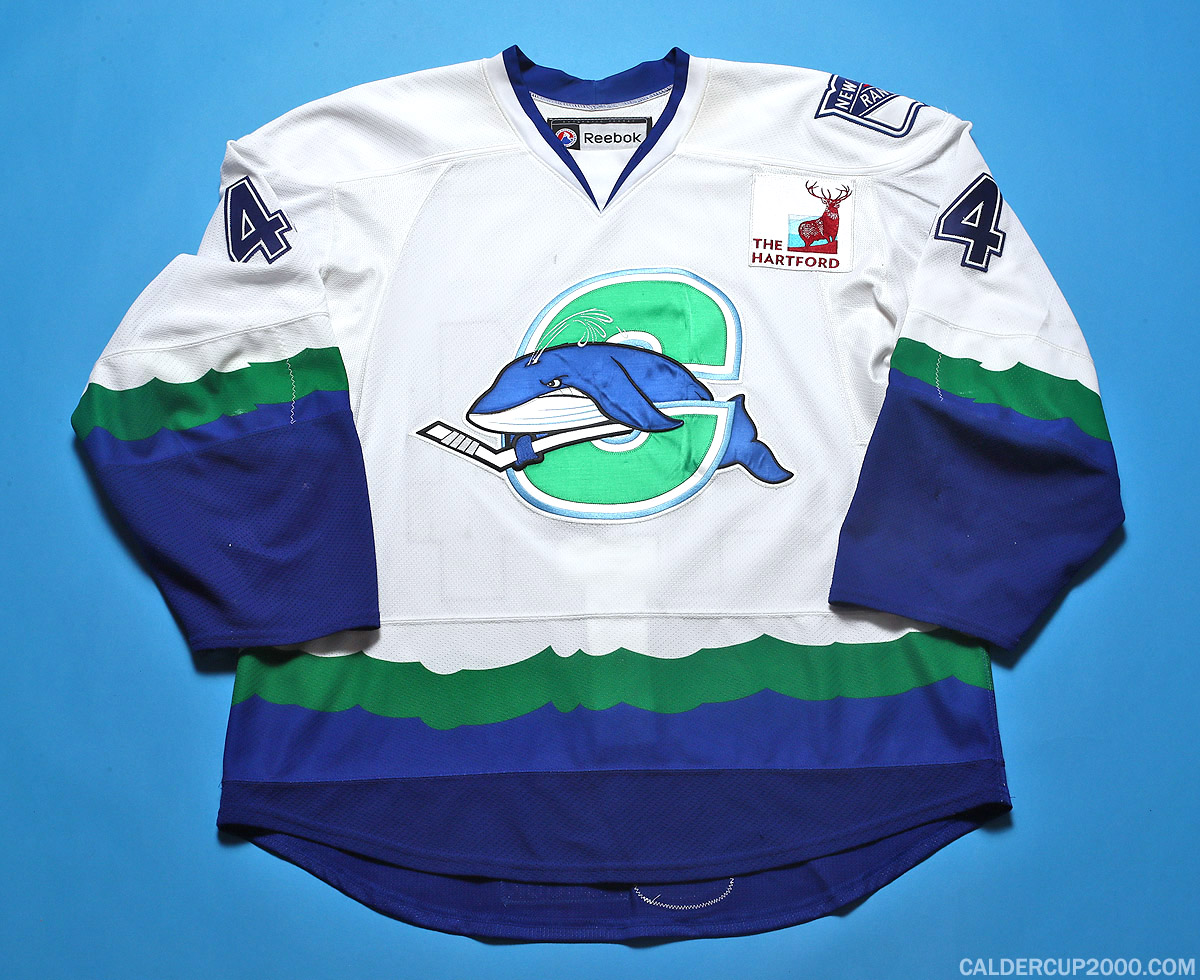 2011-2012 game worn Tim Erixon Connecticut Whale jersey
