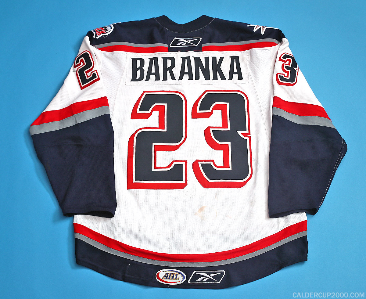 2007-2008 game worn Ivan Baranka Hartford Wolf Pack jersey