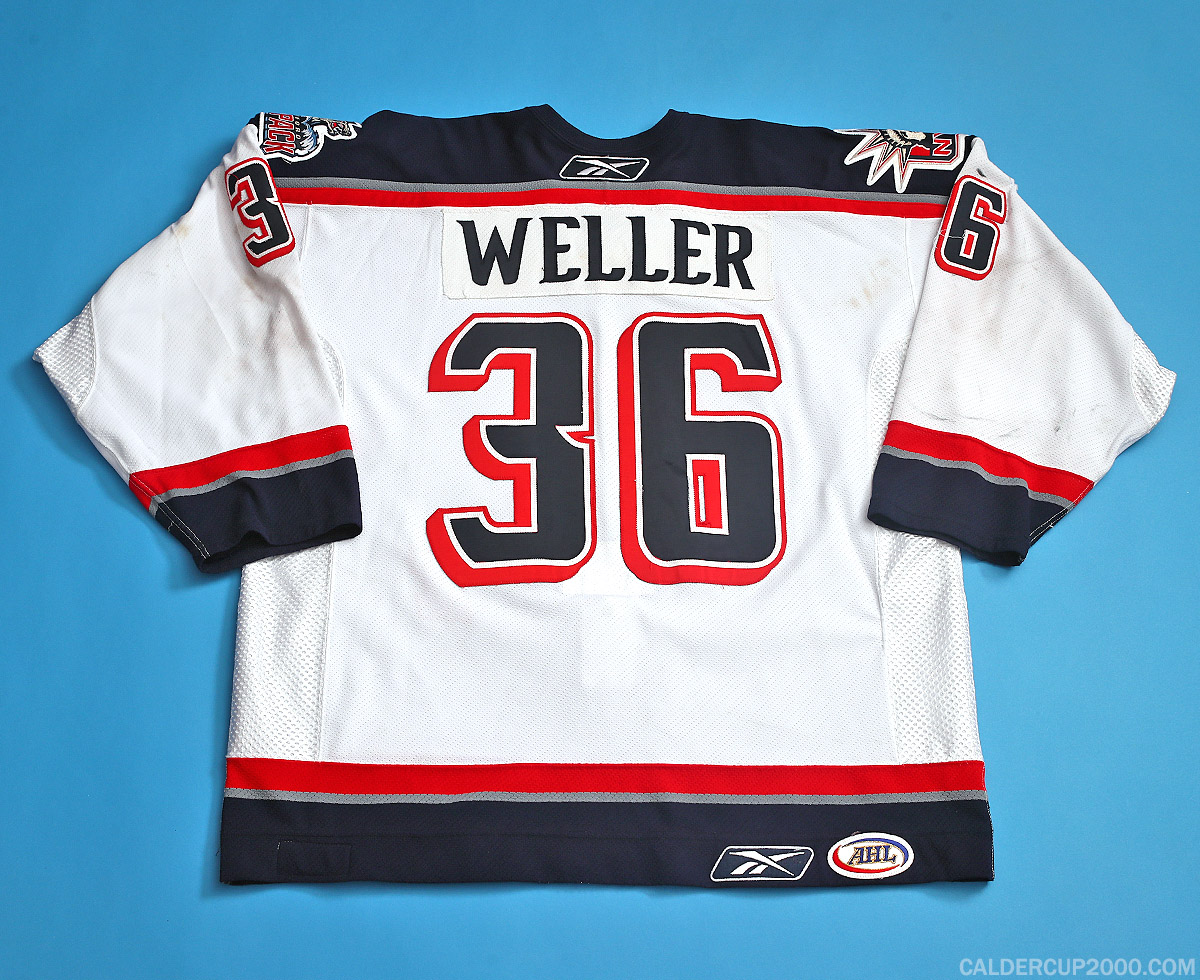 2004-2005 game worn Craig Weller Hartford Wolf Pack jersey