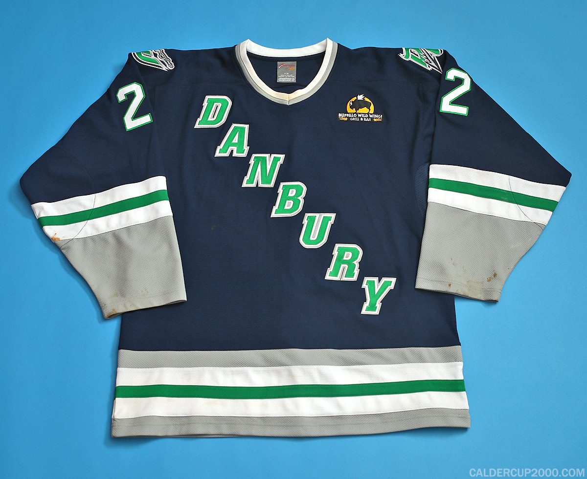 2011-2012 game worn Nick Deschenes Danbury Whalers jersey