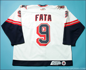 2002-2003 game worn Rico Fata Hartford Wolf Pack jersey