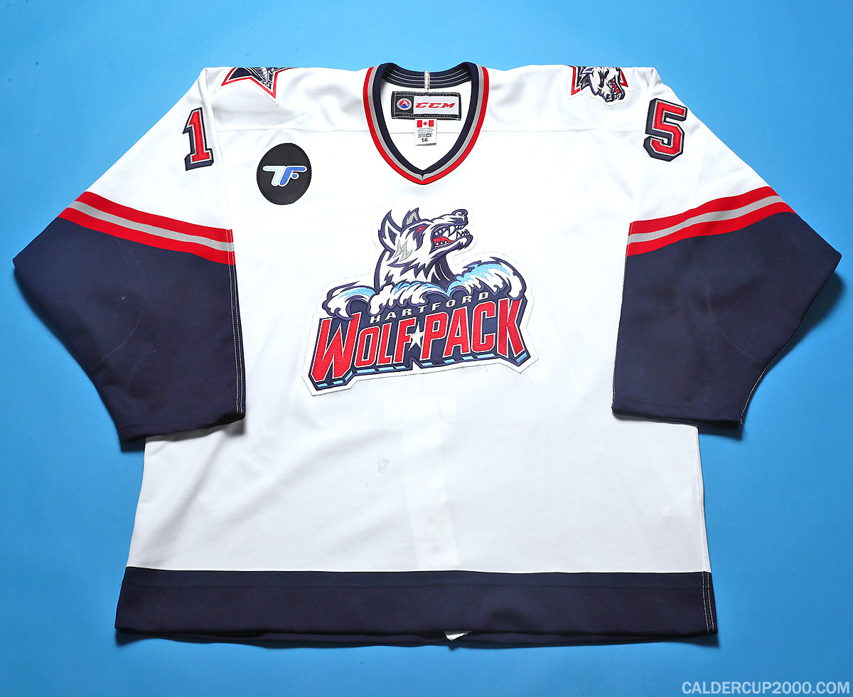 2014-2015 game worn Marek Hrivik Hartford Wolf Pack jersey