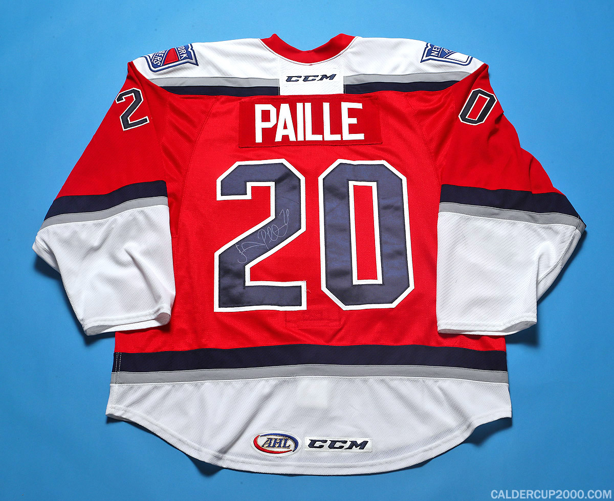 2015-2016 game worn Daniel Paille Hartford Wolf Pack jersey