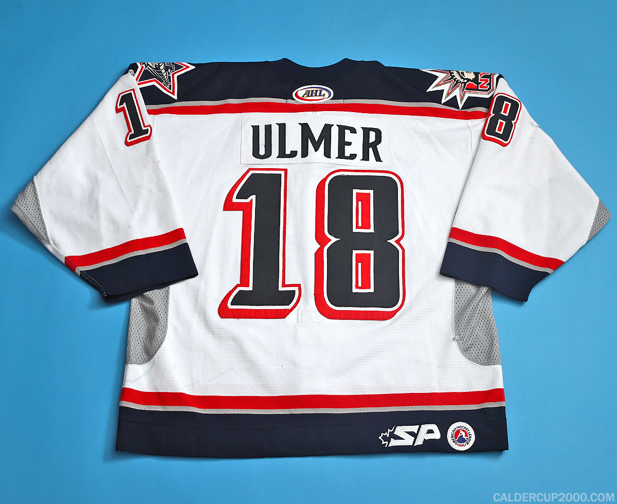 2004-2005 game worn Layne Ulmer Hartford Wolf Pack jersey