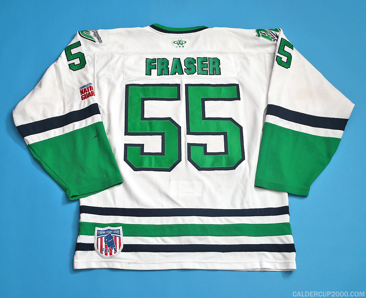 2013-2014 game worn Julian Fraser Danbury Whalers jersey