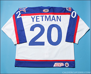 2002-2003 game worn Patrick Yetman Hartford Wolf Pack jersey