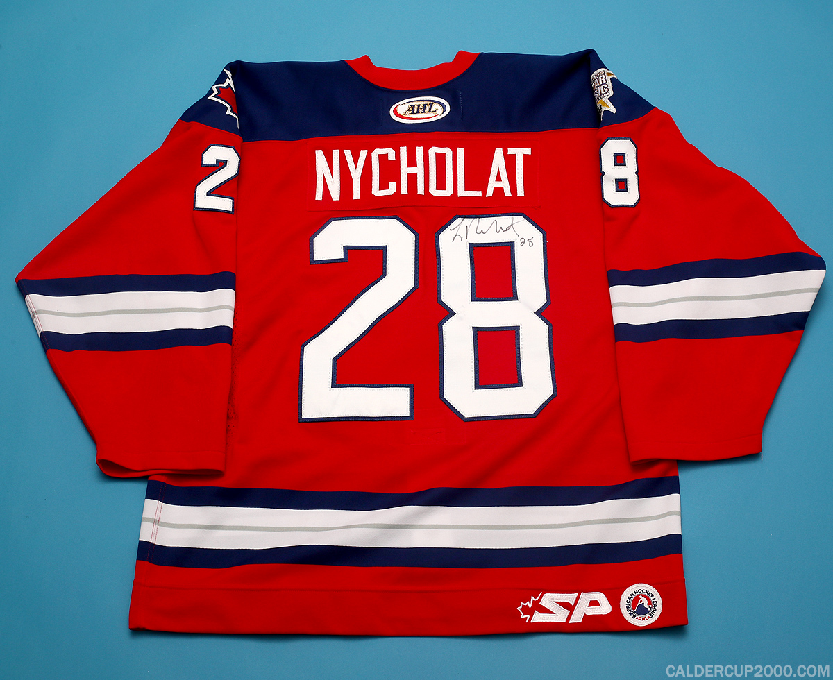 2005 game worn Lawrence Nycholat Canada AHL All Stars jersey