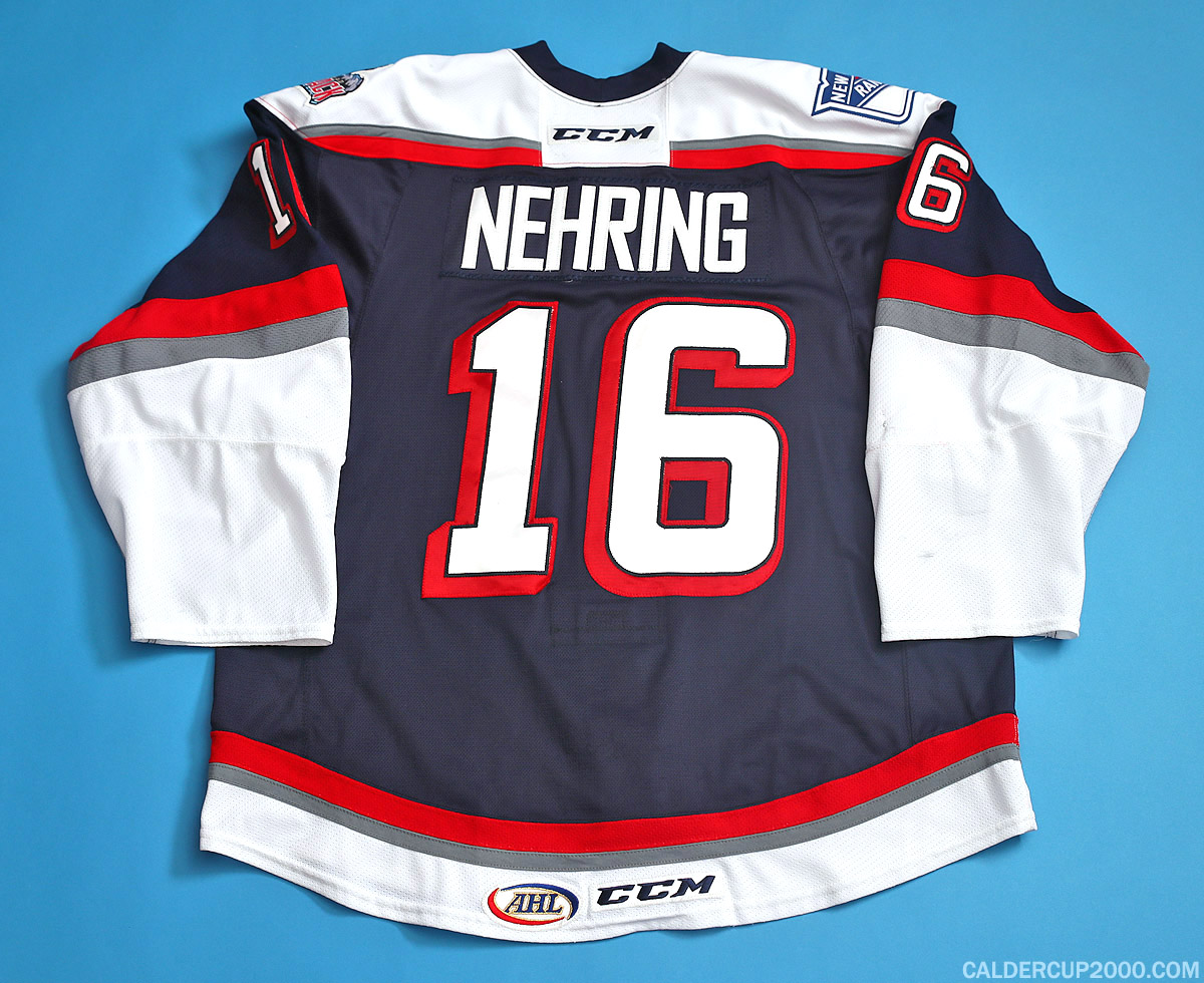 2015-2016 game worn Chad Nehring Hartford Wolf Pack jersey
