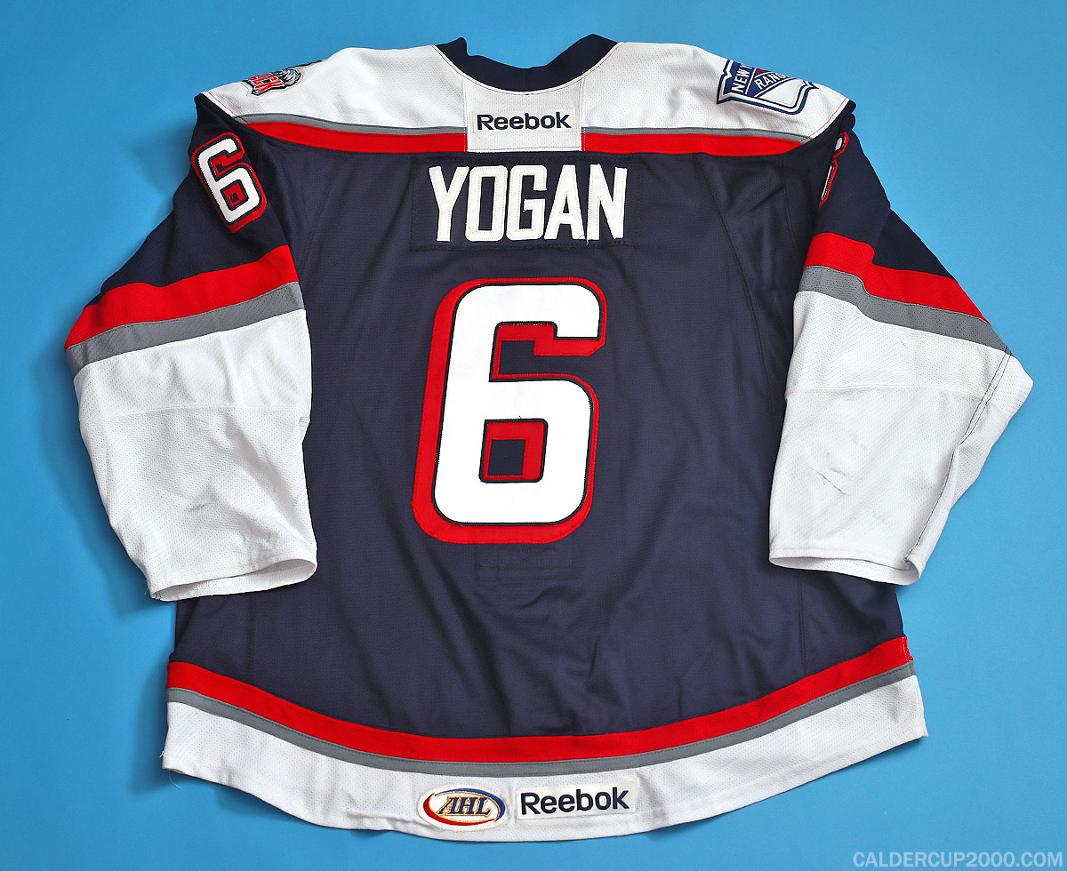 2013-2014 game worn Andrew Yogan Hartford Wolf Pack jersey
