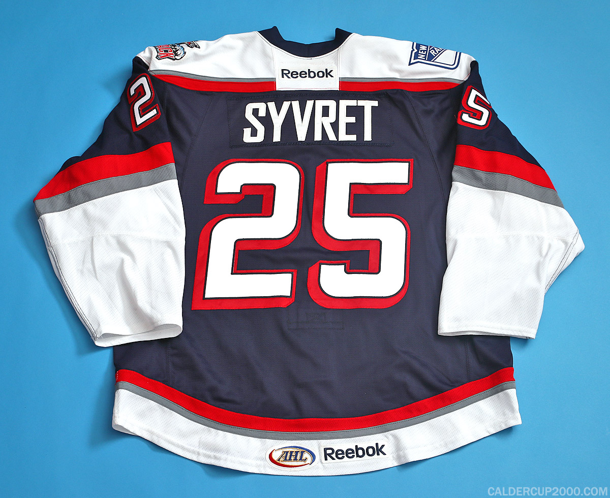 2013-2014 game worn Danny Syvret Hartford Wolf Pack jersey