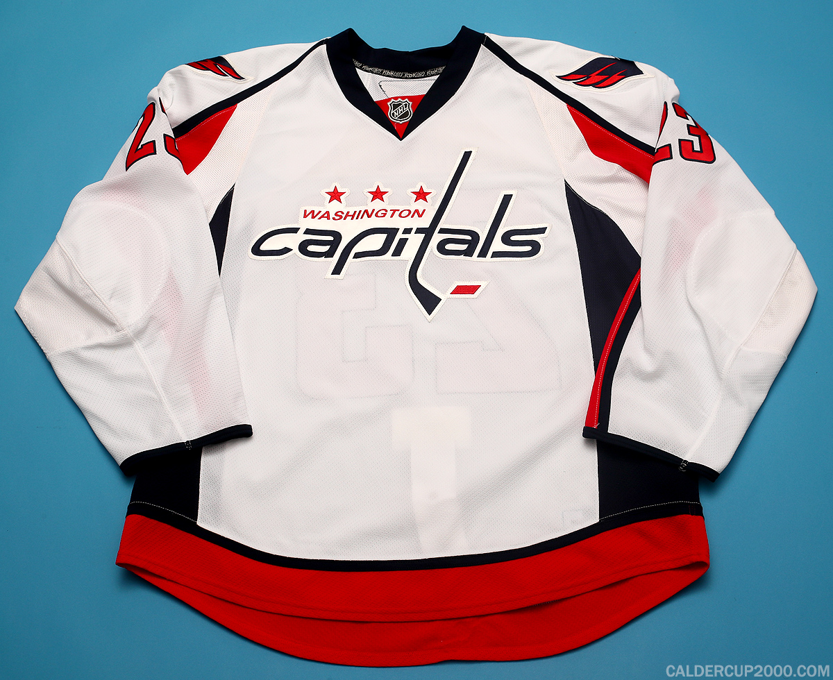 2010-2011 game worn Lawrence Nycholat Washington Capitals jersey