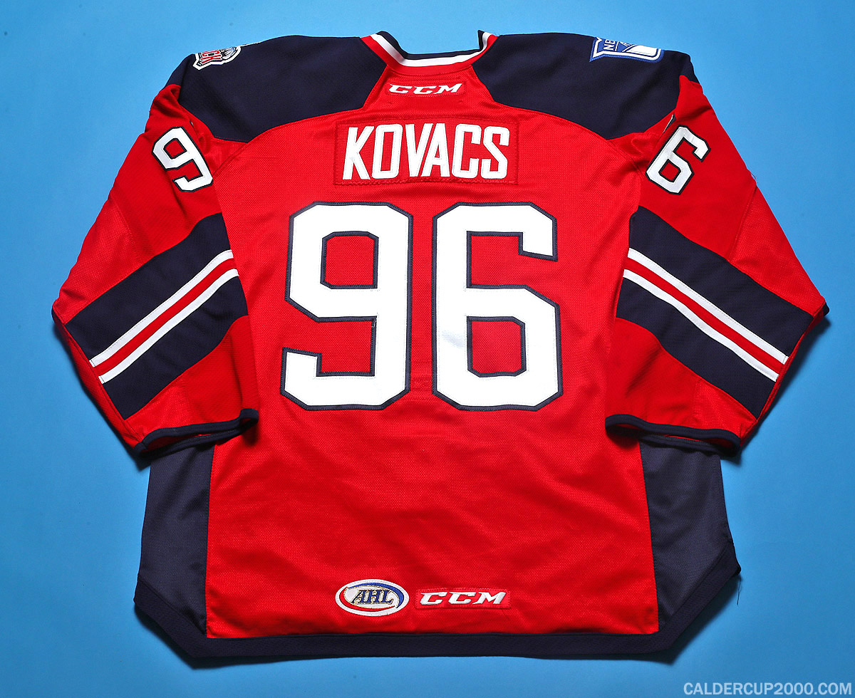 2016-2017 game worn Robin Kovacs Hartford Wolf Pack jersey