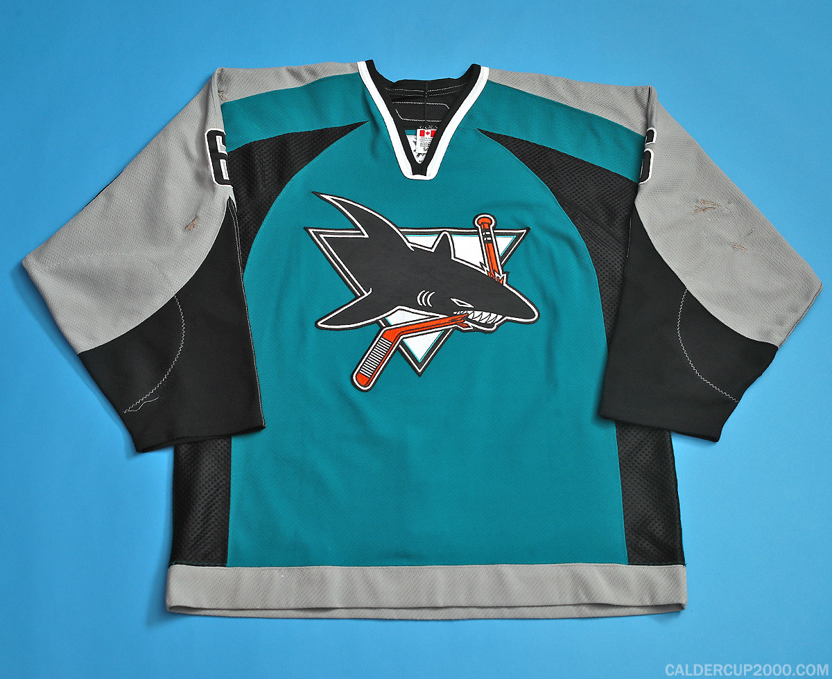 2006-2007 game worn Josh Gorges San Jose Sharks jersey