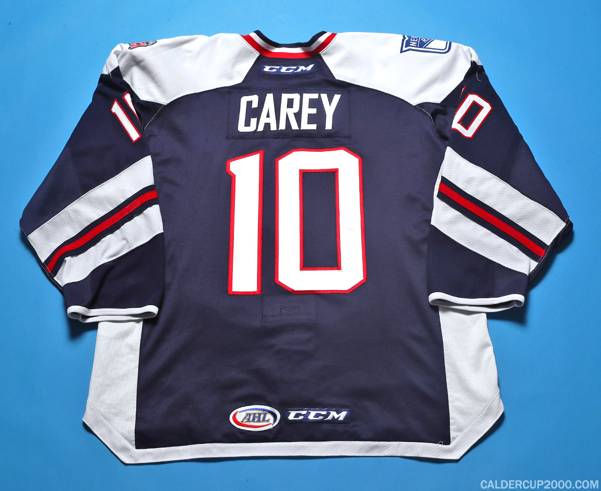 2016-2017 game worn Matt Carey Hartford Wolf Pack jersey