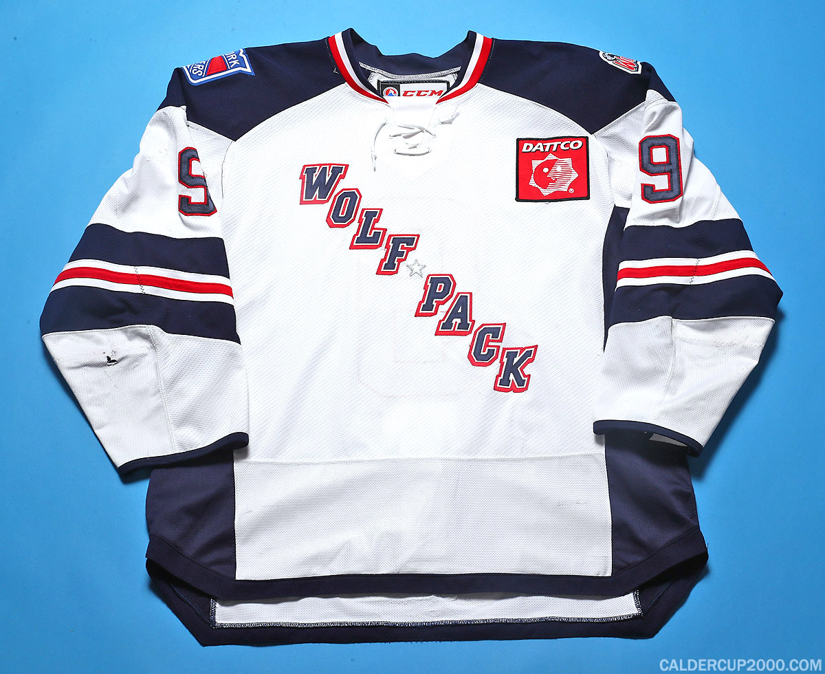 2016-2017 game worn Chris Brown Hartford Wolf Pack jersey