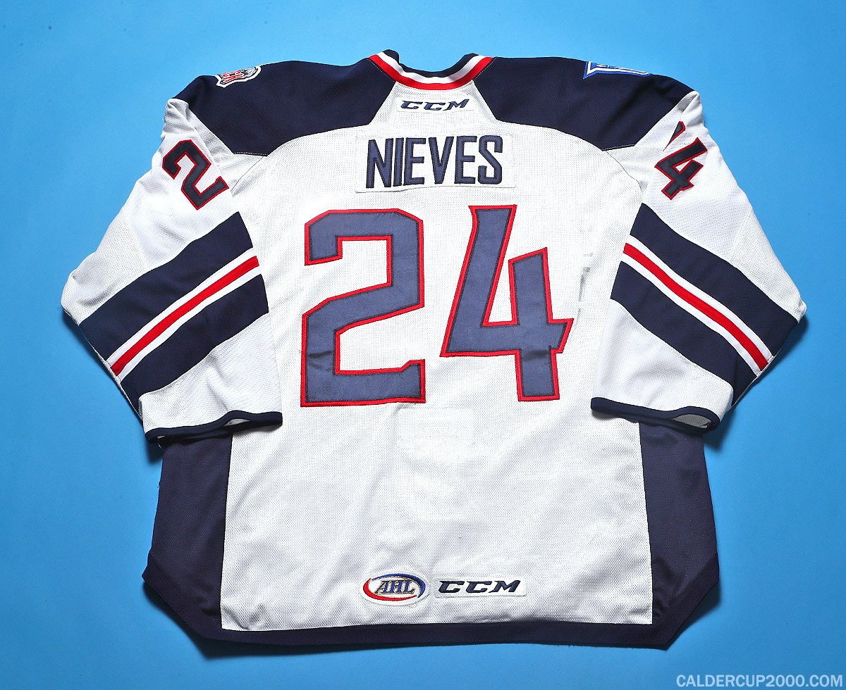 2016-2017 game worn Boo Nieves Hartford Wolf Pack jersey