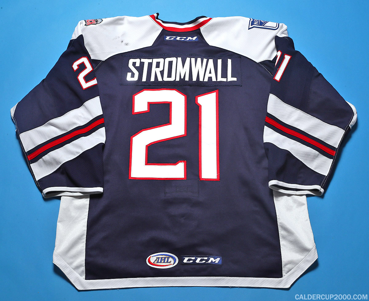 2016-2017 game worn Malte Stromwall Hartford Wolf Pack jersey