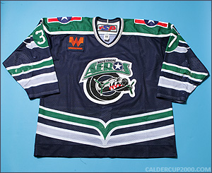 2002-2003 game worn Lawrence Nycholat Houston Aeros jersey