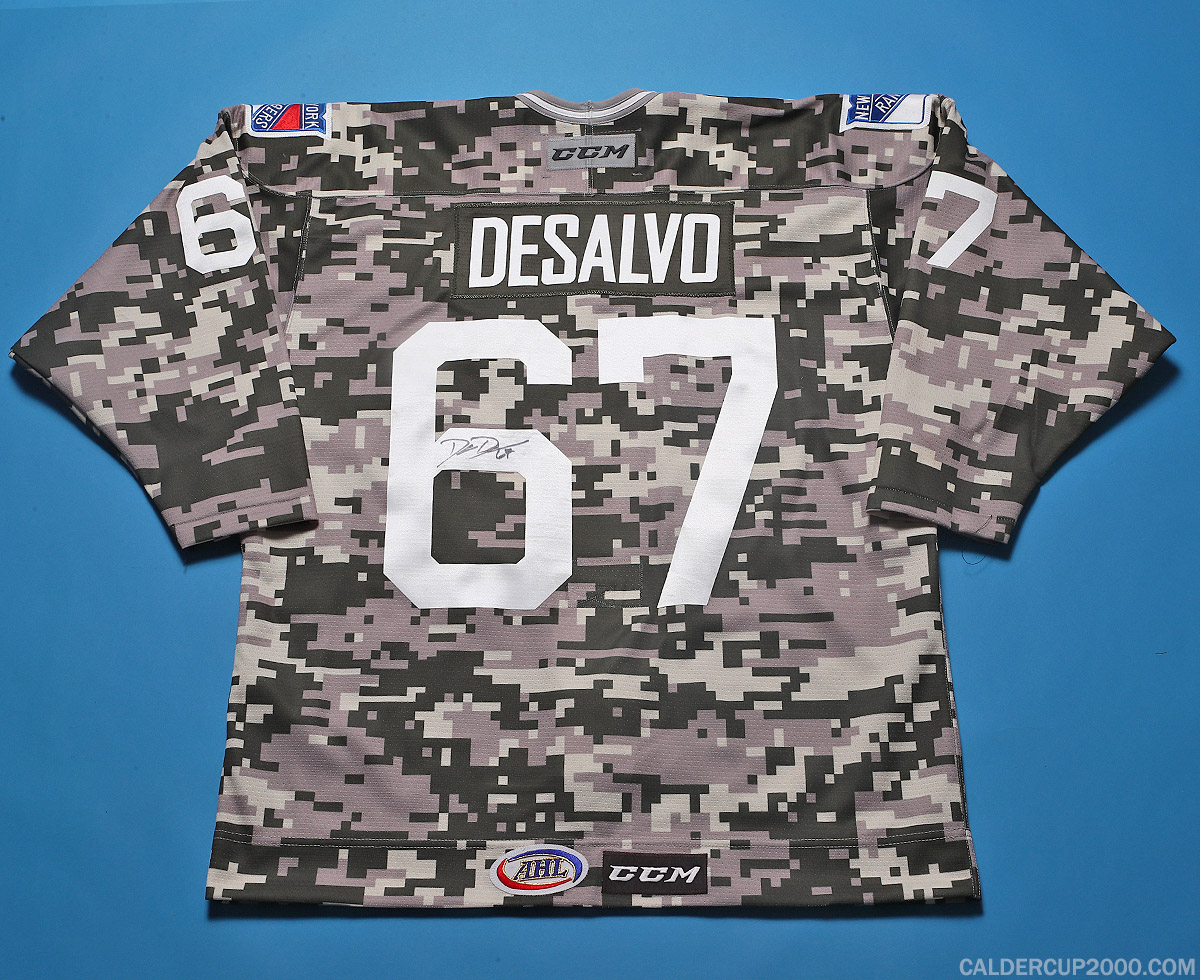 2017-2018 game worn Dan DeSalvo Hartford Wolf Pack jersey