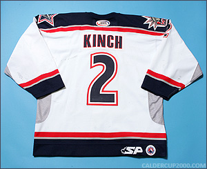 2003-2004 game worn Matt Kinch Hartford Wolf Pack jersey