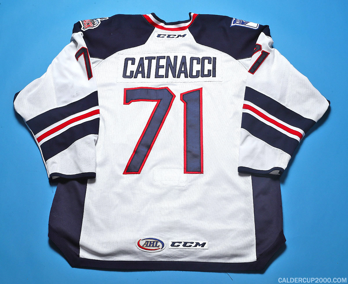 2017-2018 game worn Dan Catenacci Hartford Wolf Pack jersey