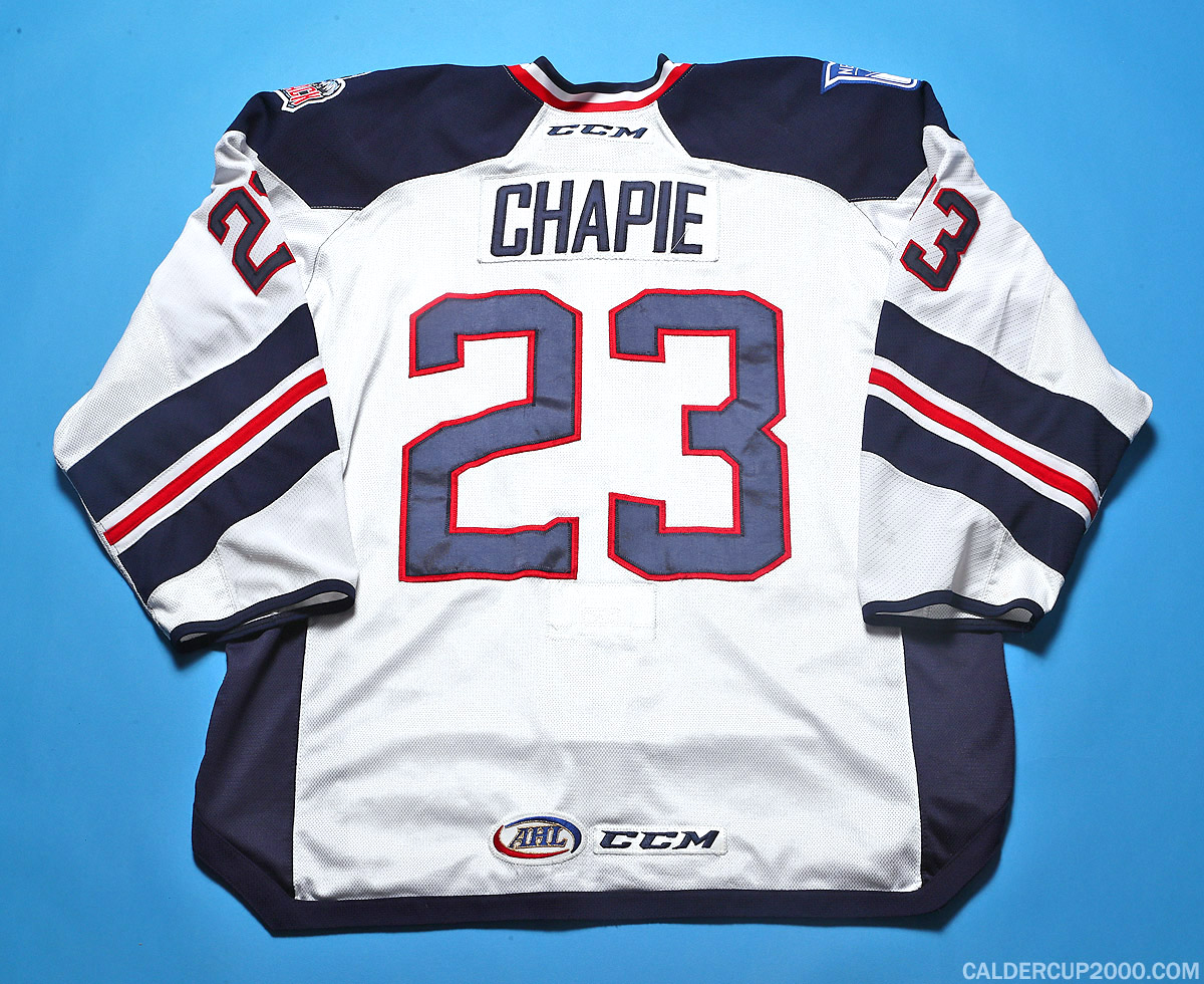 2016-2017 game worn Adam Chapie Hartford Wolf Pack jersey