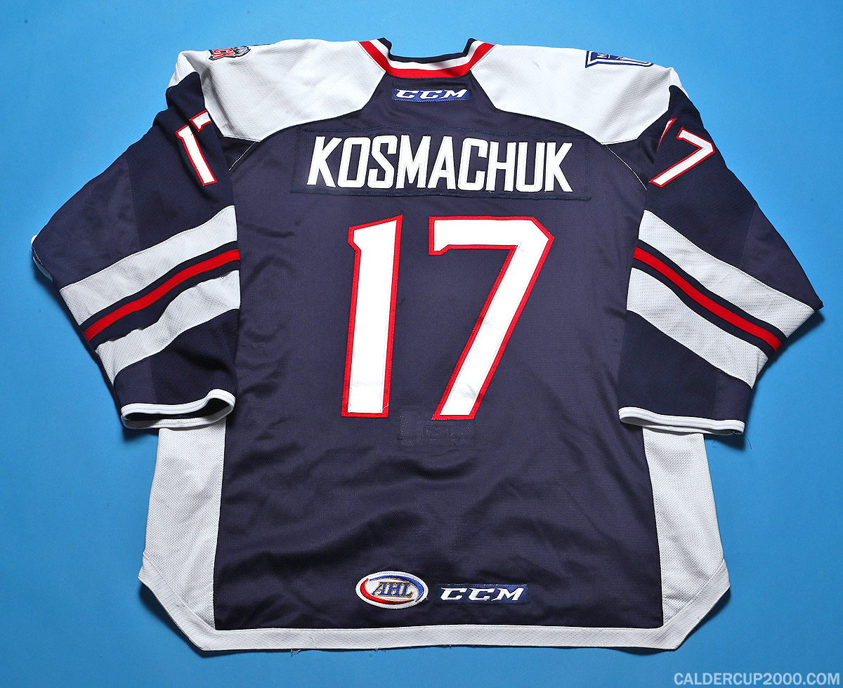 2017-2018 game worn Scott Kosmachuk Hartford Wolf Pack jersey
