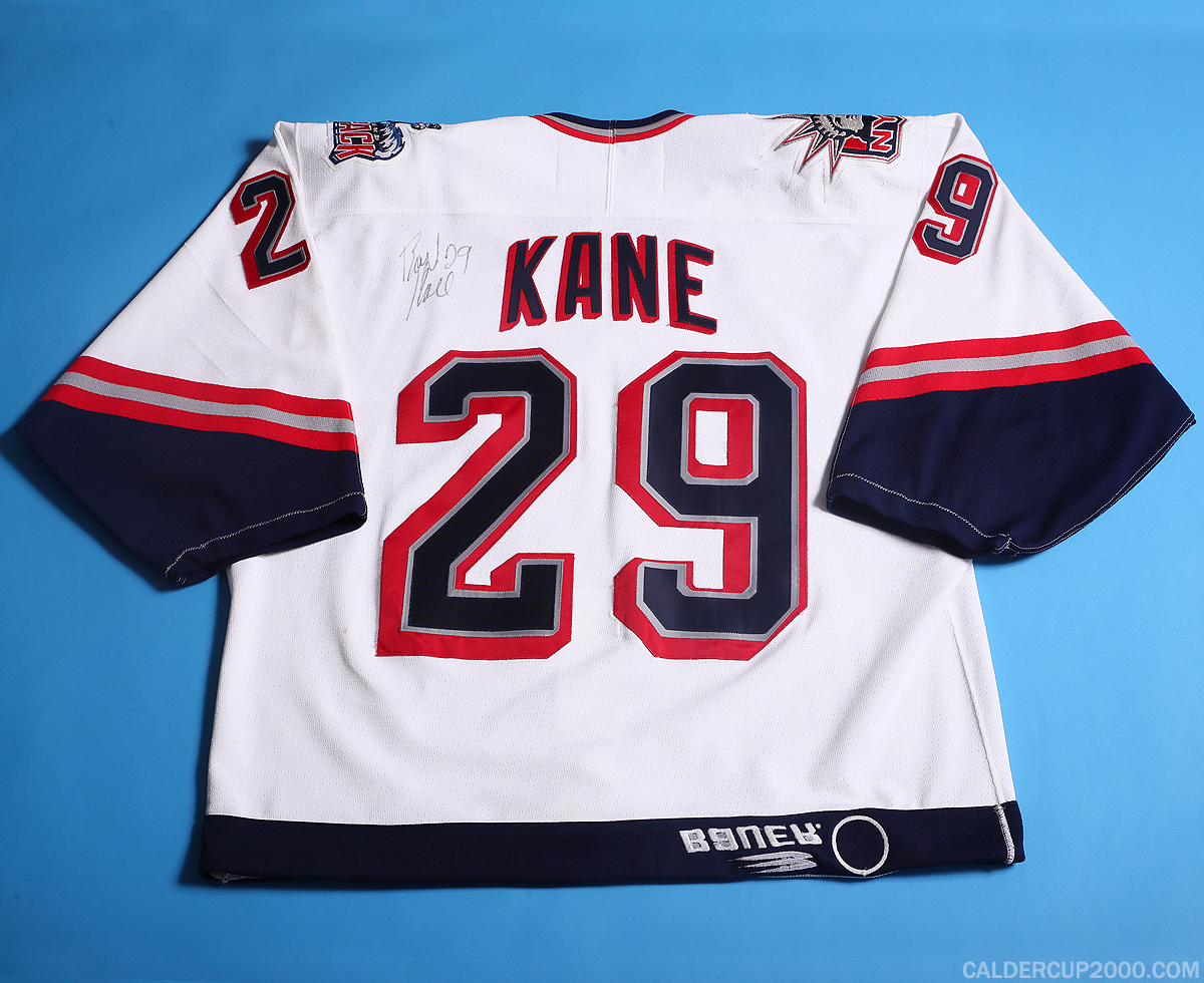 1998-1999 game worn Boyd Kane Hartford Wolf Pack jersey